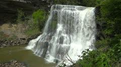 Burgess Falls Establishing 1 HD Breathtaking View Stock Footage