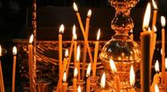 Russian Orthodox Church. The interior, icons, candle, life. Stock Footage