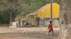 Senegal village - stock footage
