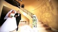 Bride Groom Formal Wedding Attire  Stock Footage