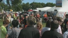 Stock Footage - Rick Santorum Iowa Straw Poll - Entrance greeting crowd - stock footage