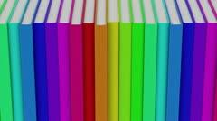 Row of books loop Stock Footage