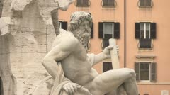 City view of Rome, Italy with buildings, monuments and art Stock Footage