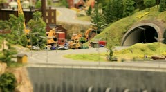 Toy truck on the road Stock Footage