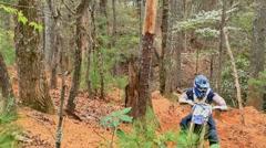 Motocross dirt bike racing 11 Stock Footage