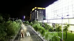 time lapse: evening view of city in china - stock footage