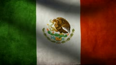 Mexico  flag. Stock Footage