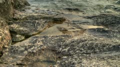 timelapse granite shore. - stock footage