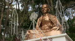 Thailand: Statue at base of Wat Phra Thart Doi Suthep Stock Footage