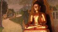 Stock Video of Thailand: Sitting Buddha at Wat Phra Thart Doi Suthep Stock Footage