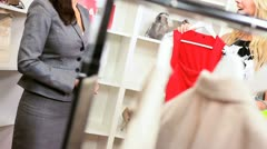 Designer Store Assistant with Female Customer  Stock Footage