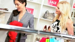 Personal Shopper with Female Customer  Stock Footage