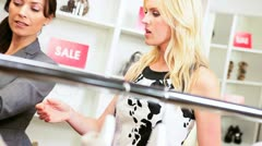 Boutique Owner with Female Client  Stock Footage