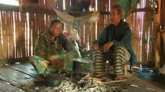 Thailand: Taking Tea Stock Footage