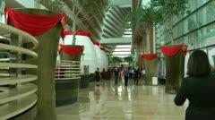 Expansive atrium Stock Footage