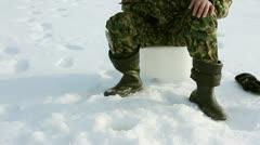 Ice Fishing Success - stock footage