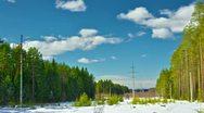 Winter Landscape Timelapse Stock Footage