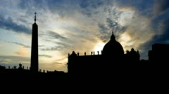 Italy Vatican city Piazza San Pietro late afternoon Stock Footage