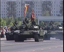Tanks Moscow Military Parade, Soviet military parade Stock Footage