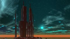 Building on a fantastic planet Stock Footage