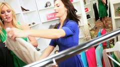 Girlfriends in Fashion Outlet  - stock footage