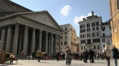 Pantheon, famous monument in Rome, Italy - stock footage