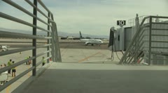 Palm Springs Airport, California Time Lapse Stock Footage