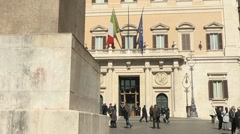 The Parliament, Palazzo Montecitorio, Rome, Italy Stock Footage