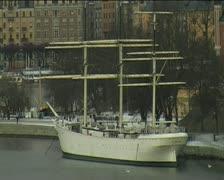Boat in Sweden Stock Footage