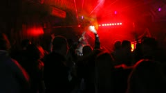 Nightclub party people Stock Footage