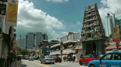 Sri Marimman Temple entrance Singapore Stock Footage