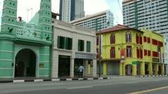 Masjid Jamae or Chulia Mosque Singapore Stock Footage