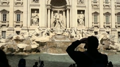 Time lapse of Trevi Fountain, Rome, Italy with people Stock Footage