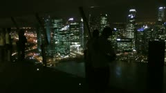 High rise night view Stock Footage