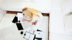 Professional Consultant Working Home  Stock Footage