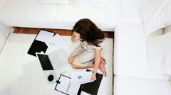 Female Home Businesswoman  - stock footage