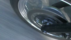 Motorcycle front tyre going fast shadows - HD 1920 PAL Stock Footage