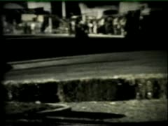 Super 8 1970s go karting Stock Footage