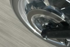 Motorcycle front tyre highspeed - SD NTSC Stock Footage
