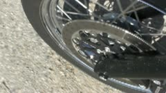 Motorcycle front tyre speed up - Multimedia 320x180 Stock Footage