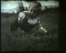 Super 8 1970s childhood memories Stock Footage