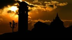 Italy Torino Duomo di Torino sunset Stock Footage