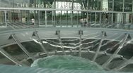 Stock Video Footage of Ned Kahn Oculus Acrylic Vortex water feature