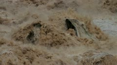 Raging River Rapids of Rio Urubamba Stock Footage