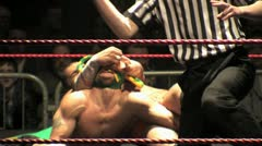 Pro Wrestling Move - Crossface Submission Hold HD - stock footage
