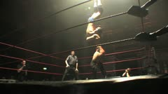 Pro Wrestling Move - Front Suplex & Pin HD - stock footage