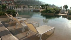 Monte Carlo Bay Hotel pool Stock Footage