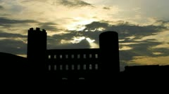 Italy Torino The Palatine Towers sunpassing Stock Footage