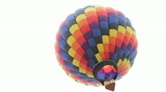 Hot air balloon seen from ground Stock Footage