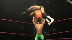 Pro Wrestling Move - Top Rope Towerplex HD Stock Footage